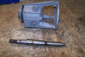 Unit required sandblasting and paint as well as shaft repair (G/C/G)